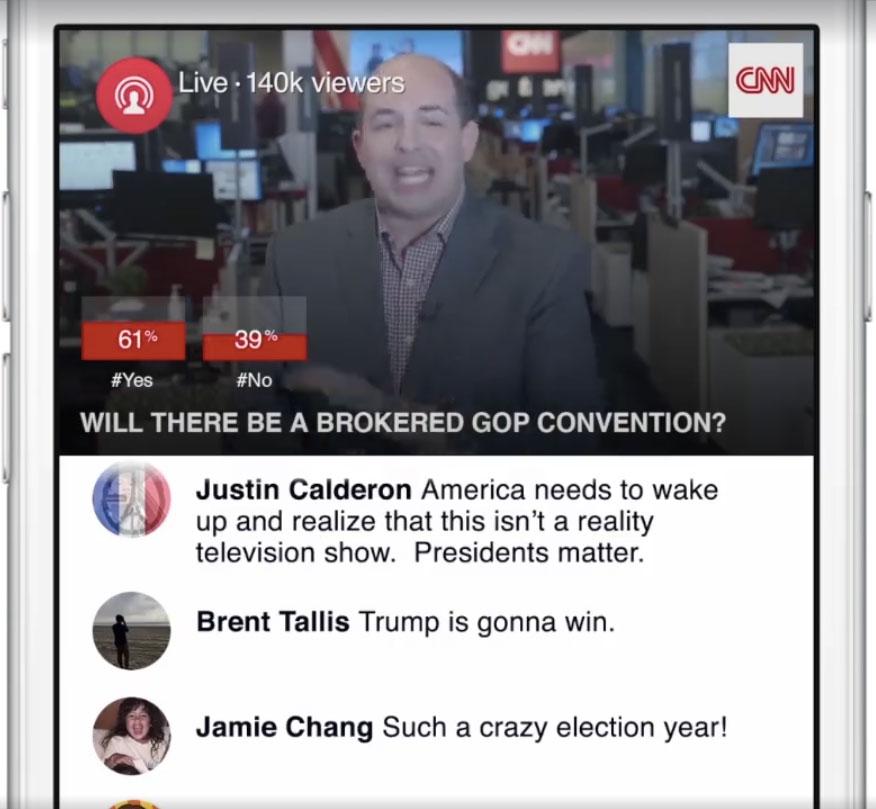 CNN Facebook直播範例