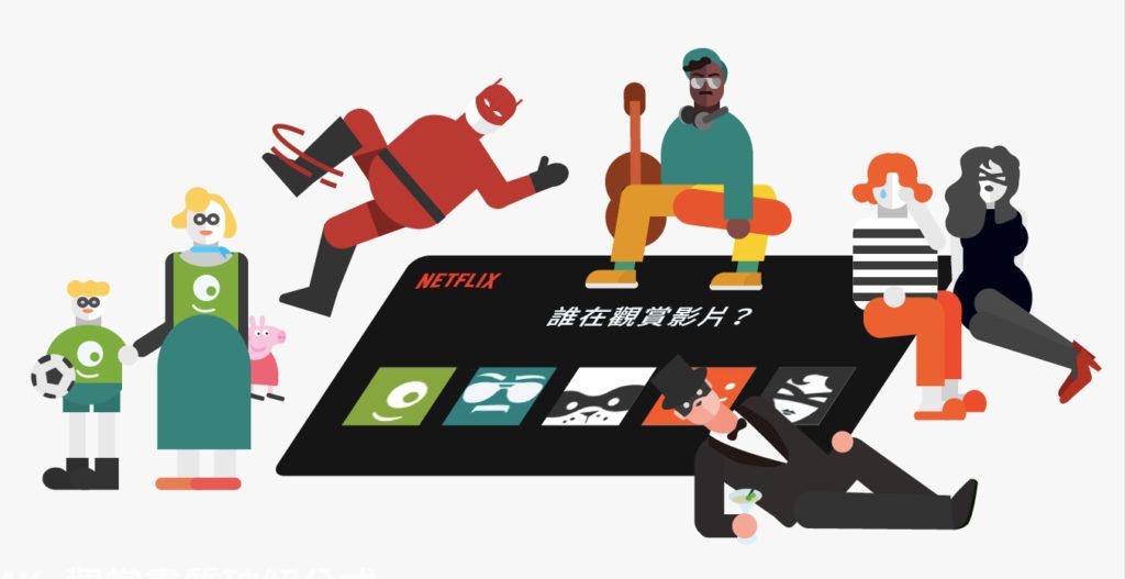 Netflix提供每個帳號5個登入身分