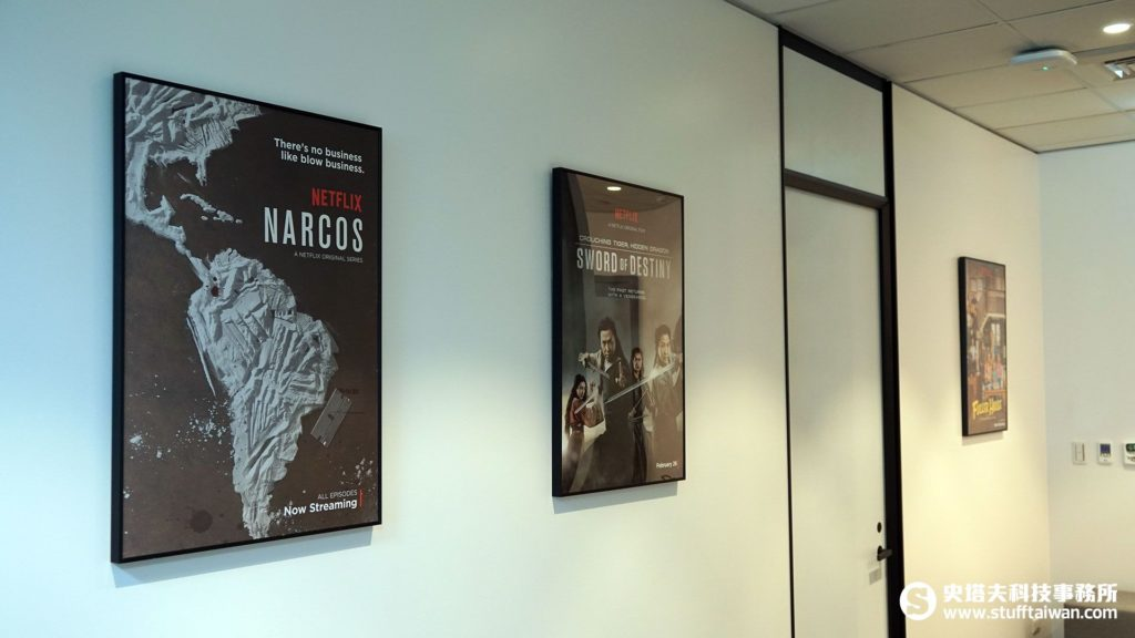 Netflix辦公室牆上的海報
