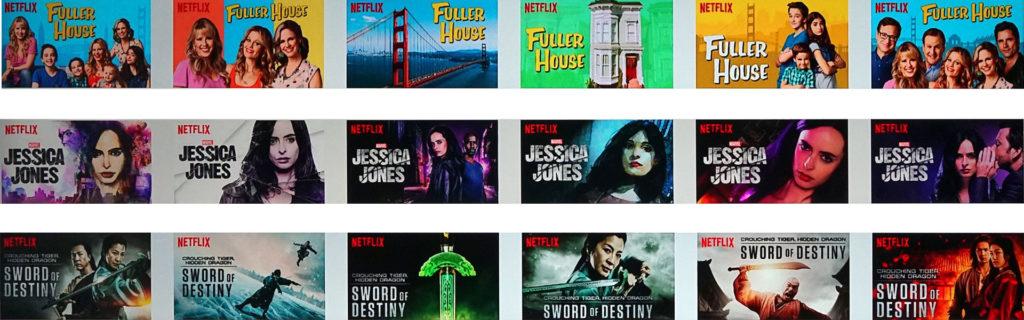 《歡樂又滿屋》、《漫威潔西卡瓊斯》、《臥虎藏龍:青冥寶劍》三部影片各6張不同劇照