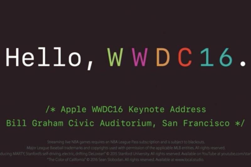 WWDC線上發表會截圖
