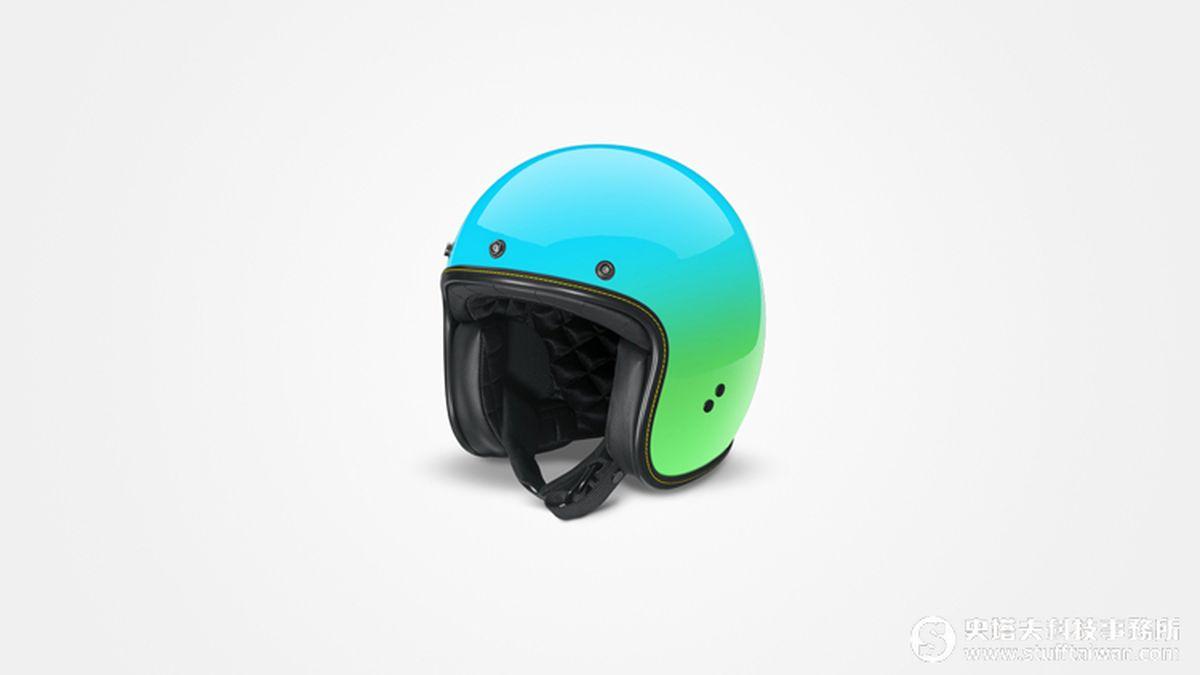 Gogoro漸層渲染安全帽