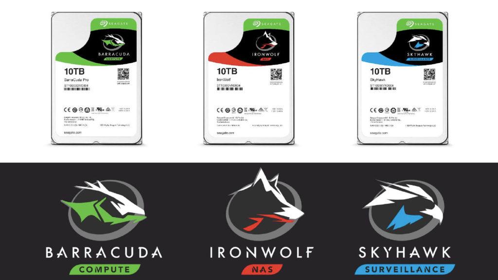 希捷科技BarraCuda、IronWolf、SkyHawk三種硬碟