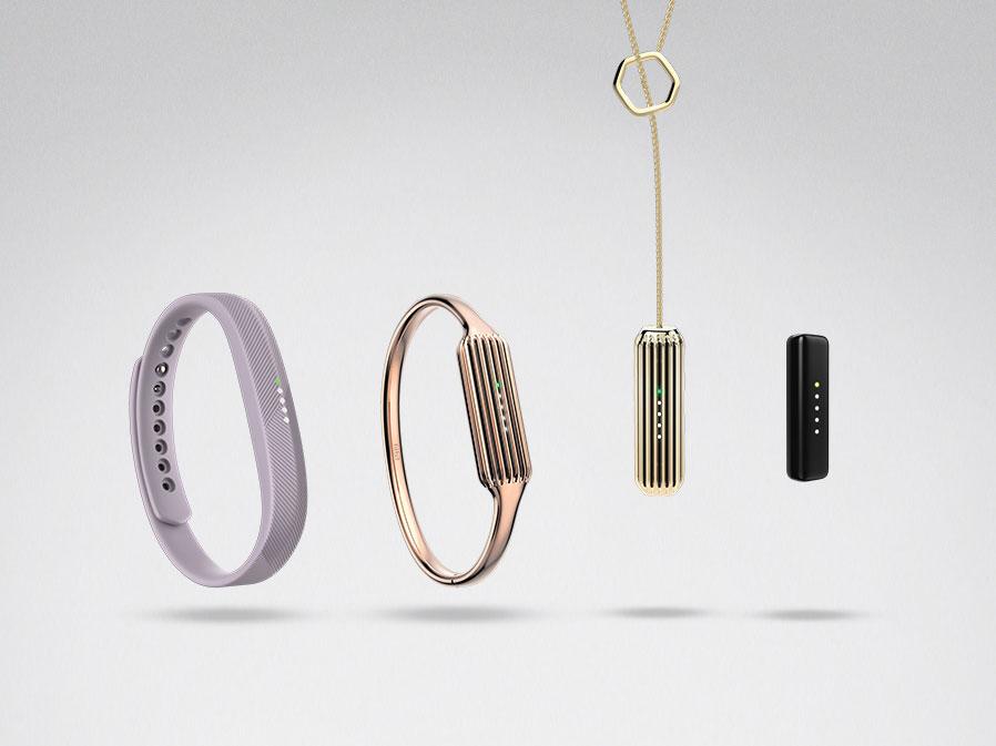 Fitbit Flex 2手鐲與墜飾圖