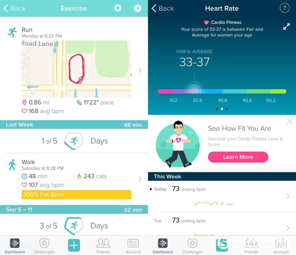 Fitbit App介面