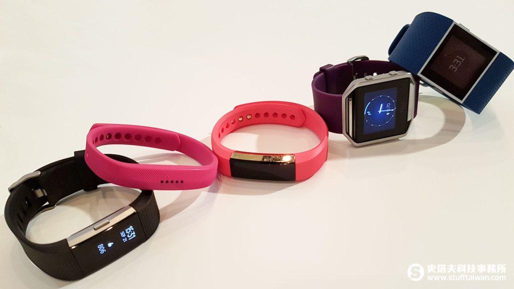 Fitbit Charge 2、Flex 2、Alta、Blaze、Surge合照