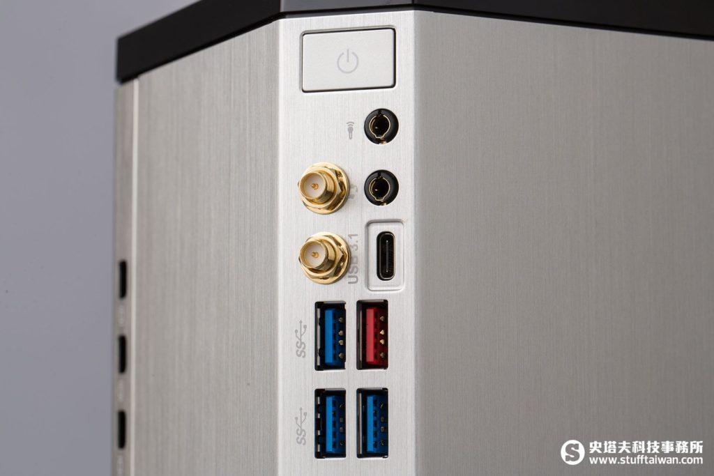 BRIX Gaming UHD的連接埠一覽
