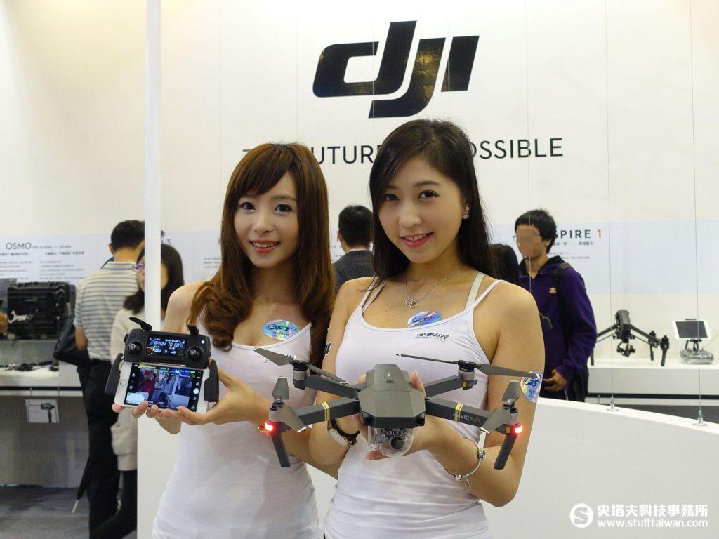 飛隼科技DJI攤位照片
