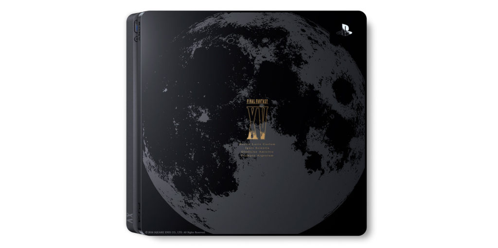 PlayStation 4 Final Fantasy XV Luna Edition主機圖