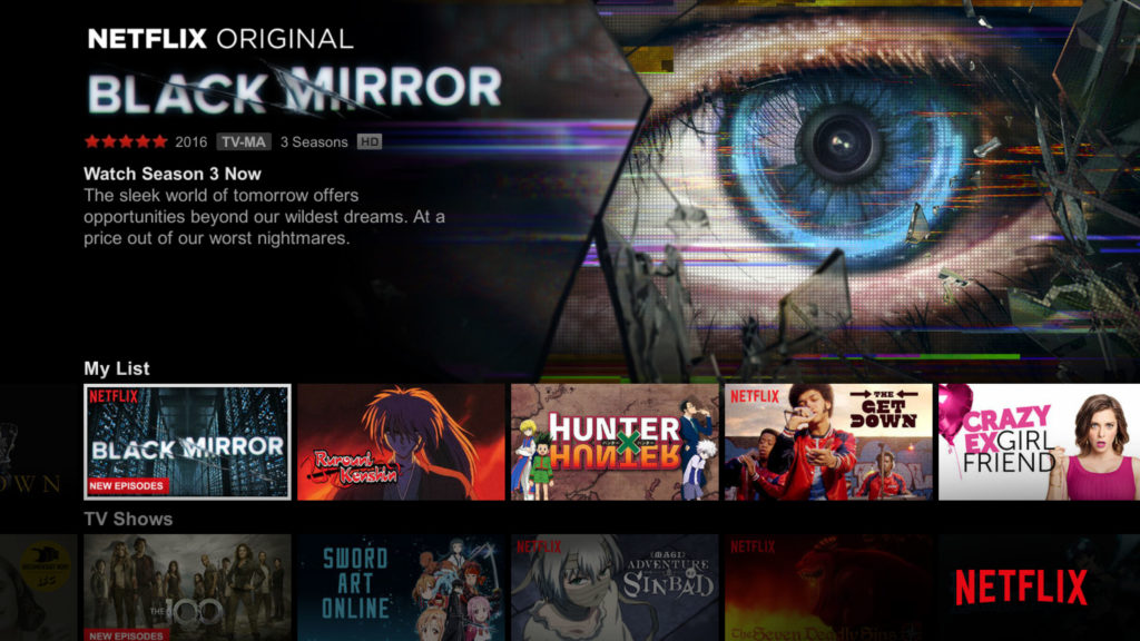 Netflix 2013年第三代使用者介面