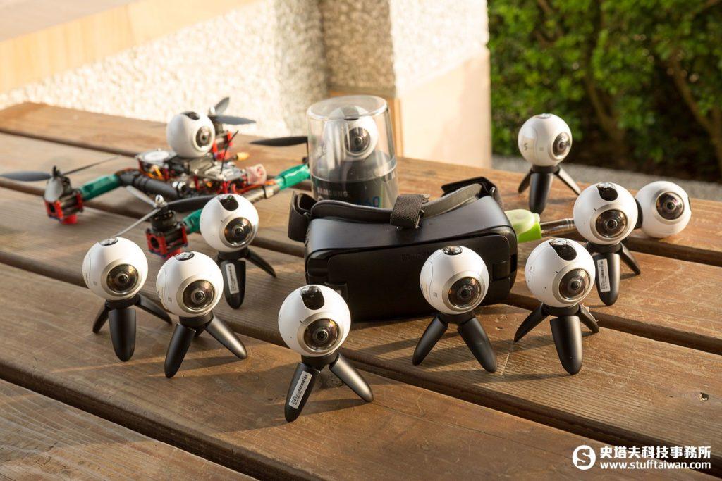 用來記錄穿越機比賽的Gear 360全景相機
