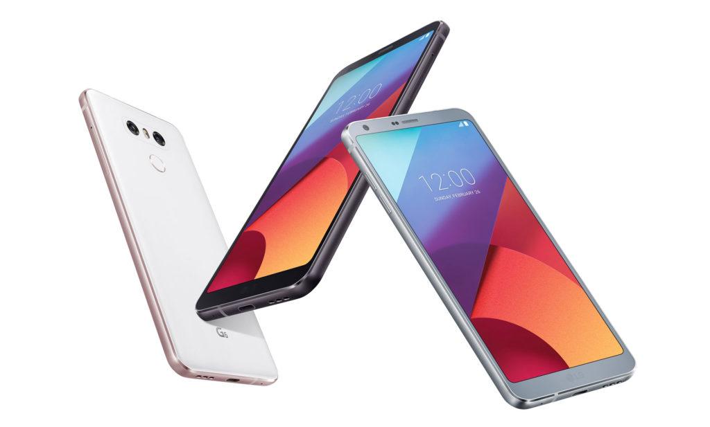 三種顏色的LG G6