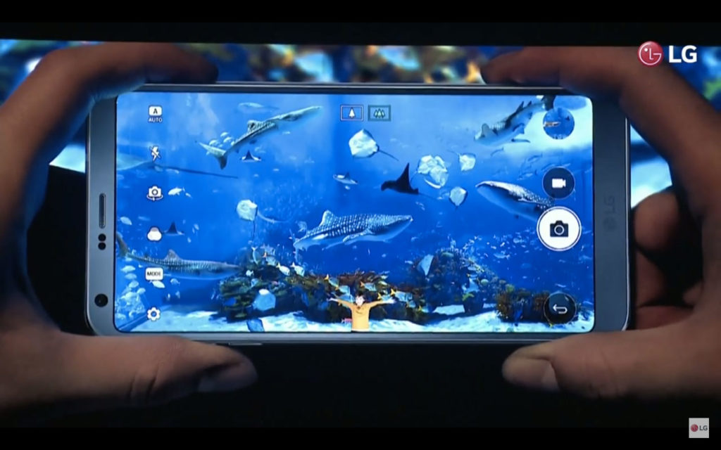 LG G6螢幕正面