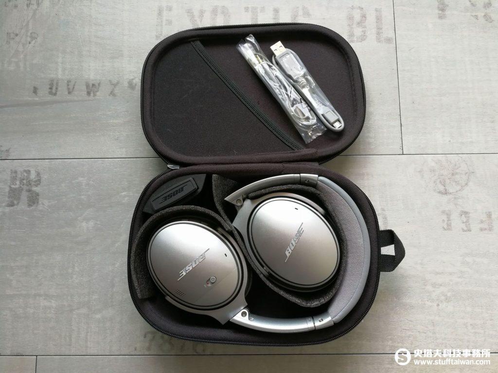 Bose QC35盒裝內含物