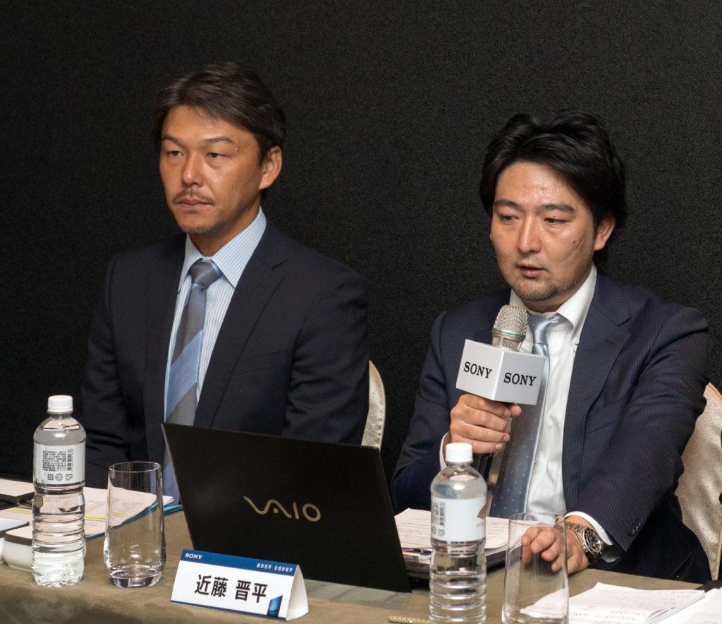日本Sony影像產品公司 產品研發部門 資深經理 近藤晉平,台灣索尼消費性電子產品行銷總部行銷部協理 土肥繁昌