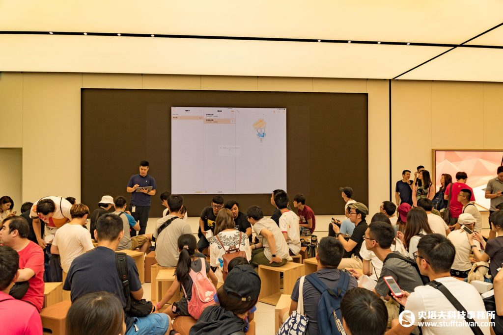 Apple台北101直營店Today at Apple課程進行中