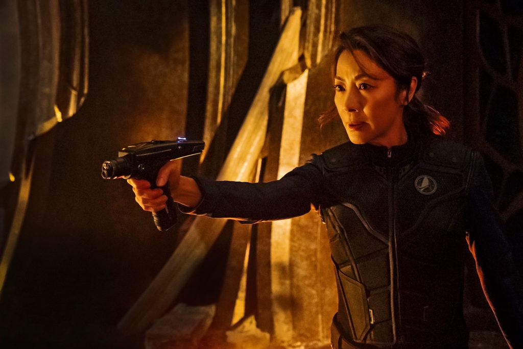 楊紫瓊在《星際爭霸戰:發現號》中擔任USS神舟號艦長