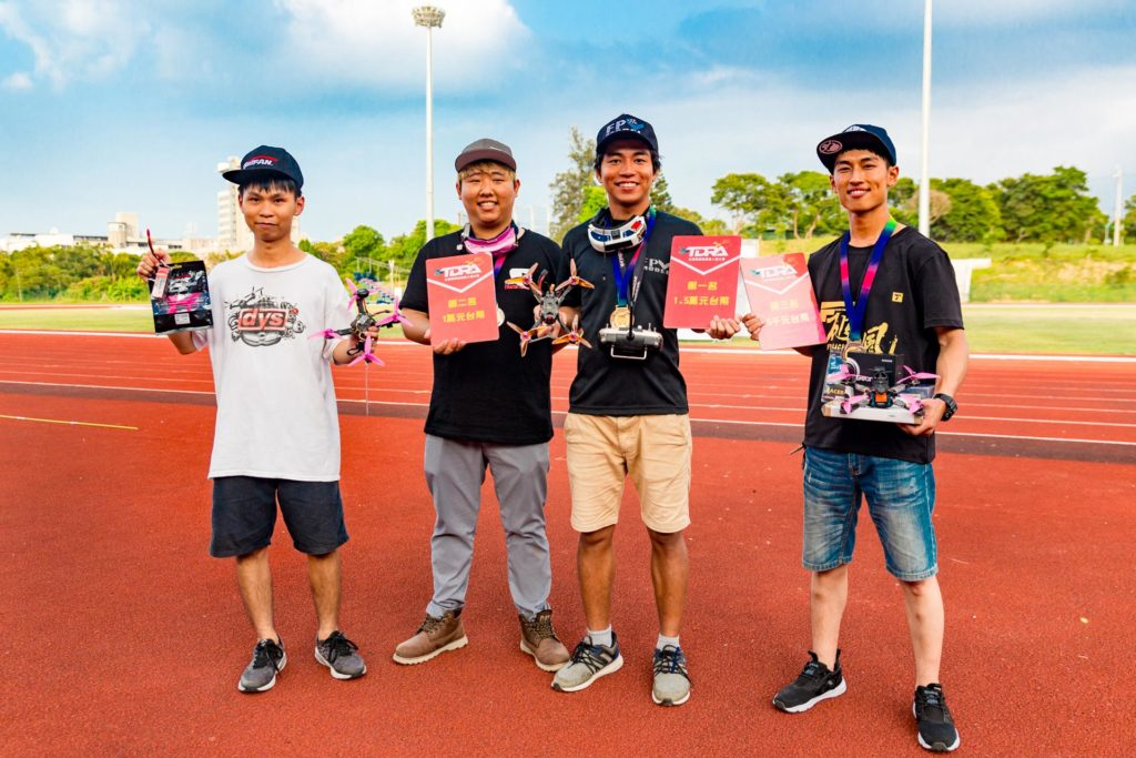2017台灣國際競速無人機大賽前四名選手合照