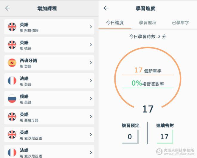 Lingvist App螢幕截圖