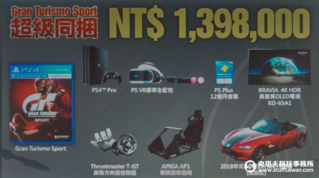 《Gran Turismo Sport》超級同捆組內容物簡報