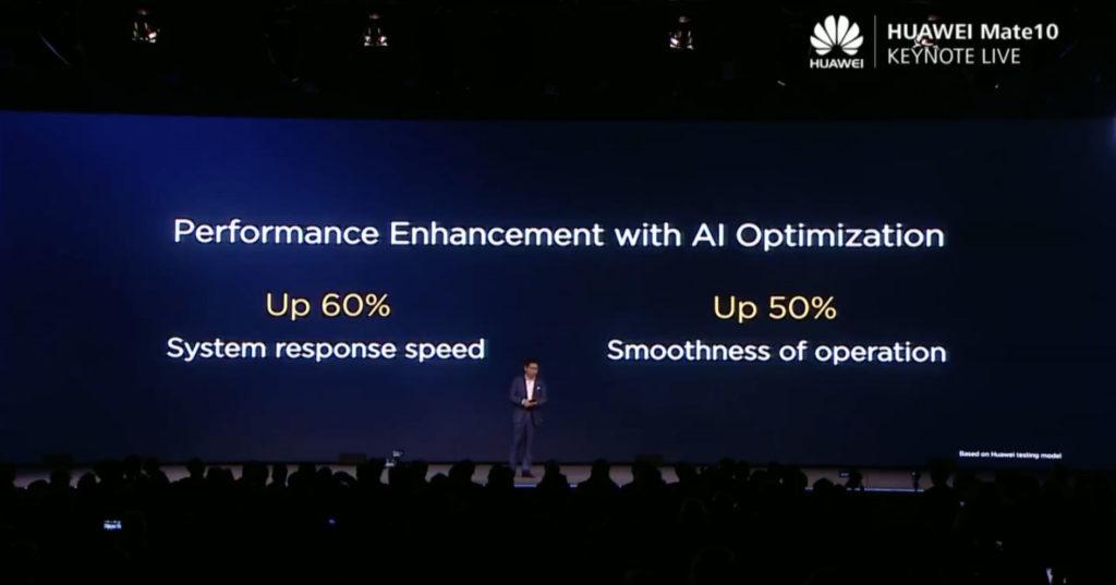 Huawei Mate 10系列系統的回應速度可提升60%,運作流暢度可提升50%