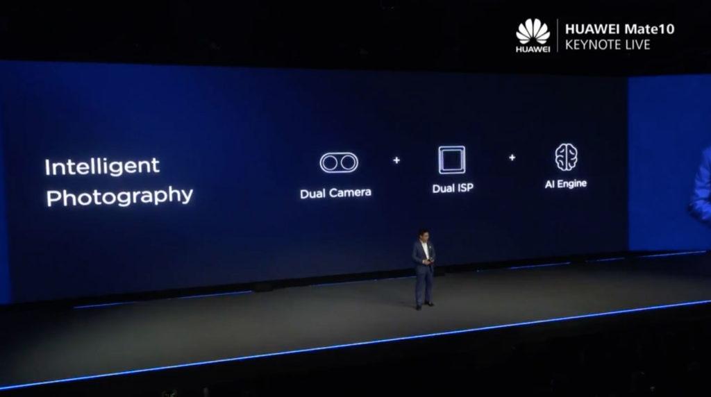 雙鏡頭、雙ISP處理器、AI運算引擎是Huawei Mate 10系列照相的賣點
