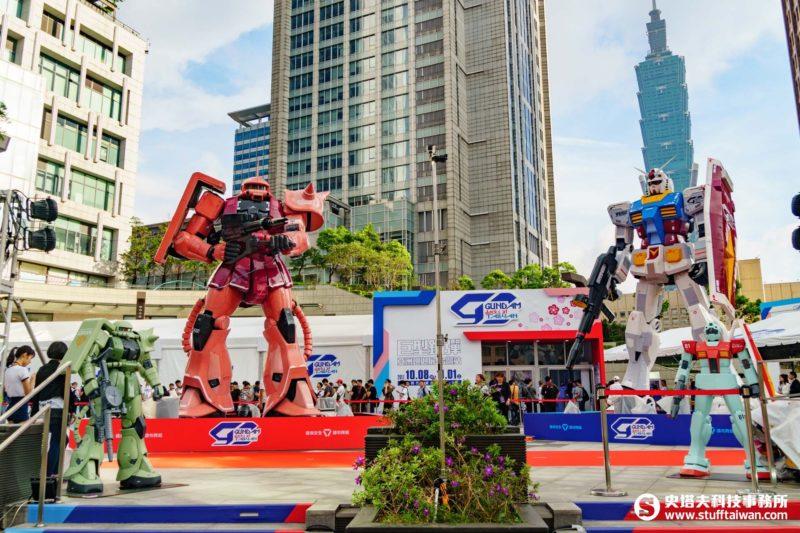 統一時代百貨台北店2F夢廣場的巨型鋼彈