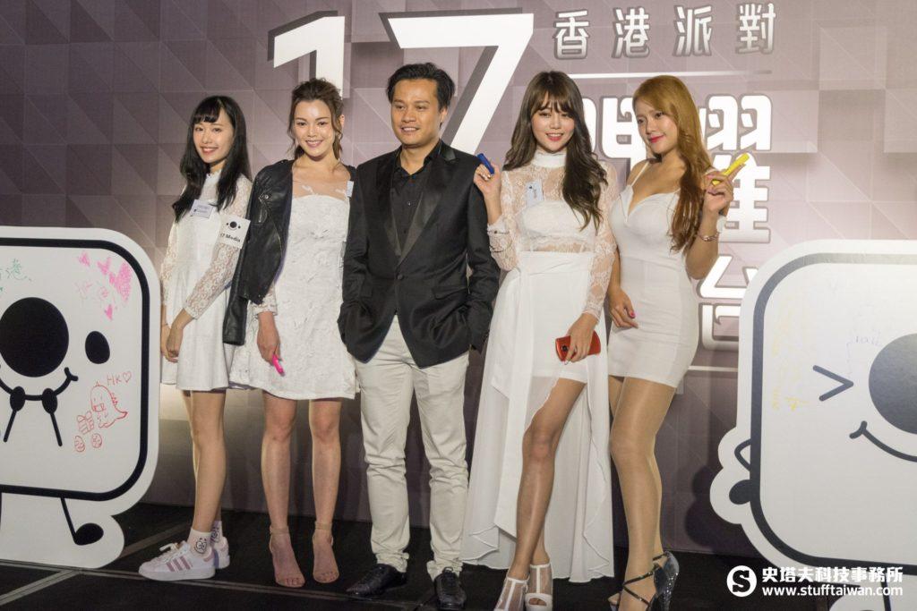 17 Media香港區總經理李泆朤(中)
