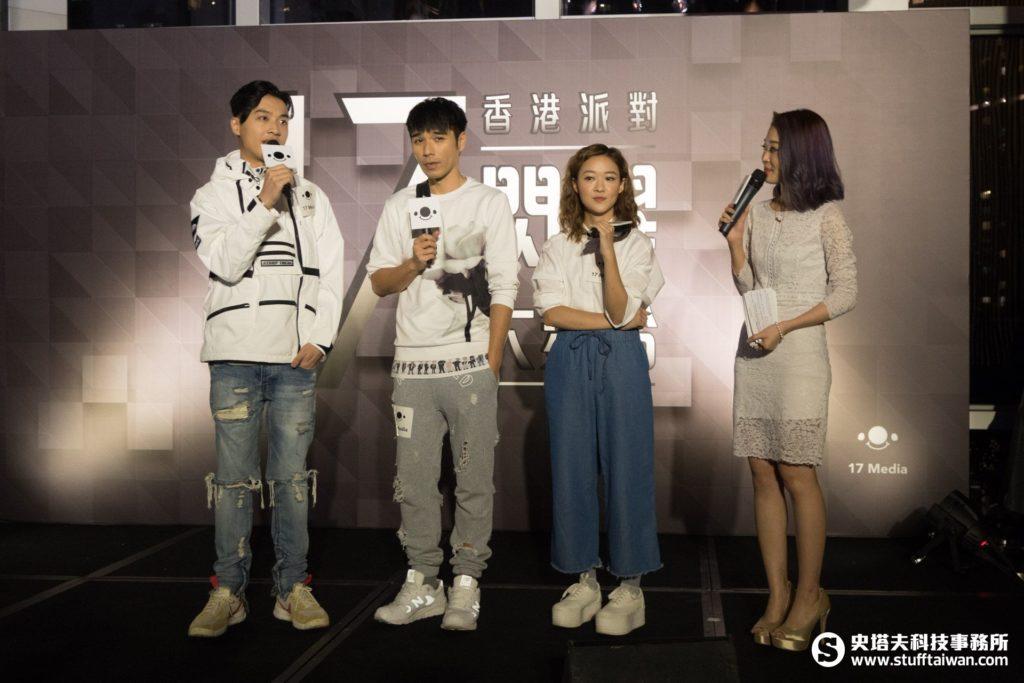 3位香港藝人張惠雅Regen(右)、姜文杰Benji(中)、潘伯仲Anson(左)