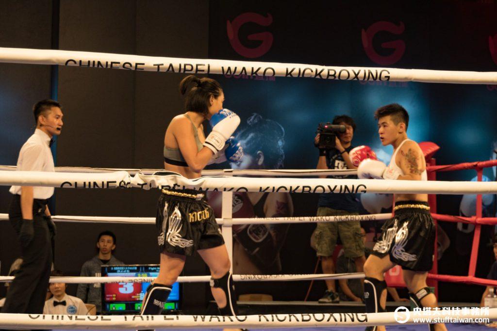 女子自由搏擊拳賽實況