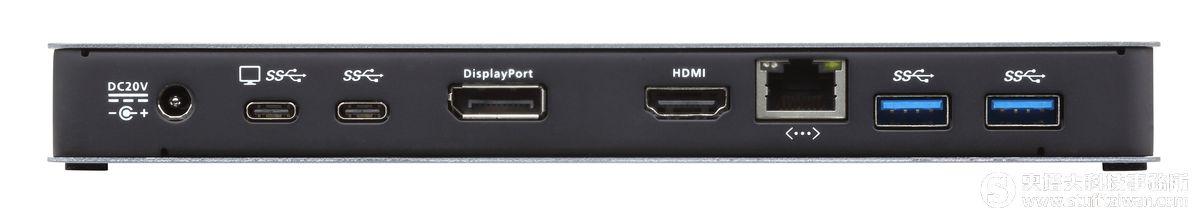 快速讓筆電變身多功能工作站?就靠ATEN UH3230 USB-C充電擴充基座