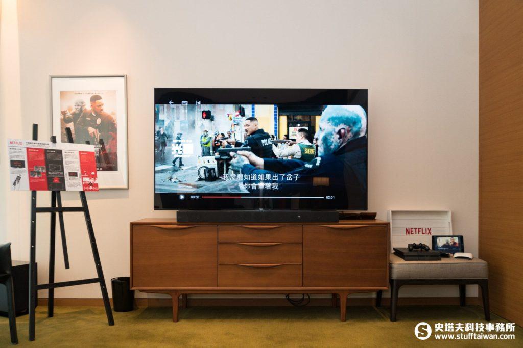 《光靈》限定主題房內的電視設備