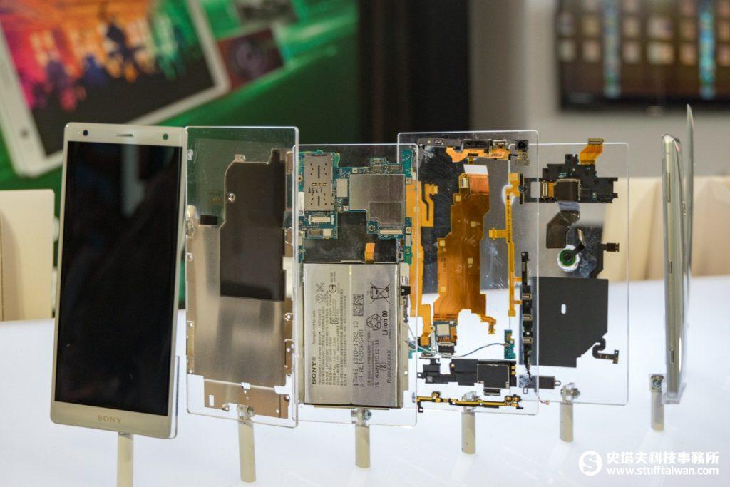 Sony Xperia XZ2螢幕及內部構造