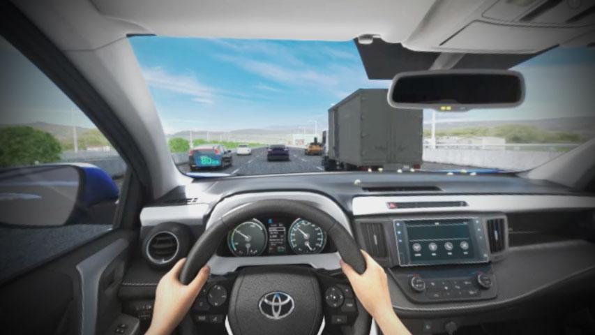 「TOYOTA VR安全模擬體驗」VR畫面