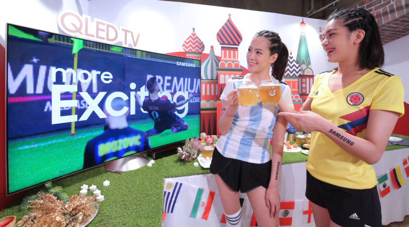 來金色三麥看世足!Samsung大尺寸QLED量子電視、4K UHD系列狂歡瘋進球