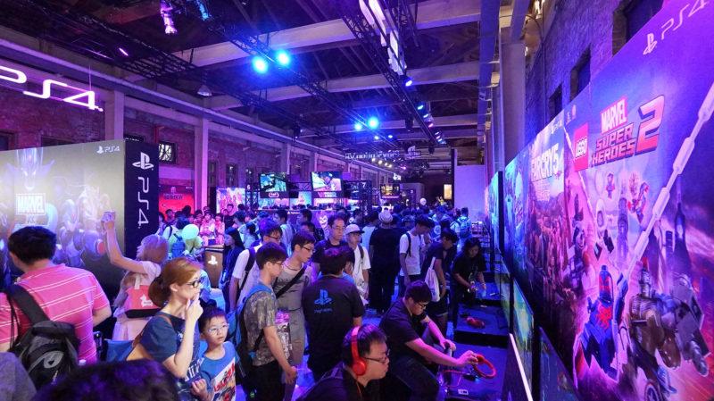 2017年「PlayStation遊戲娛樂嘉年華」在華山文創舉辦的情況