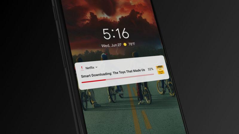 Netflix App智慧下載通知畫面