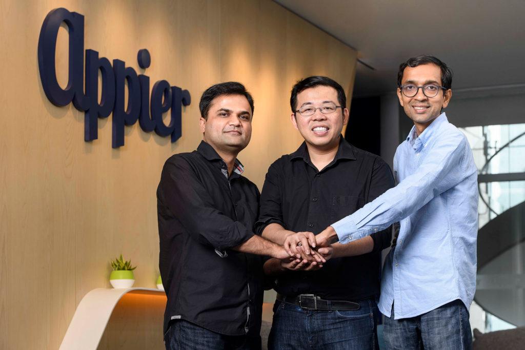 QGraph共同創辦人Sachin Bansal、Appier執行長暨共同創辦人游直翰、QGraph共同創辦人Vivek Pandey