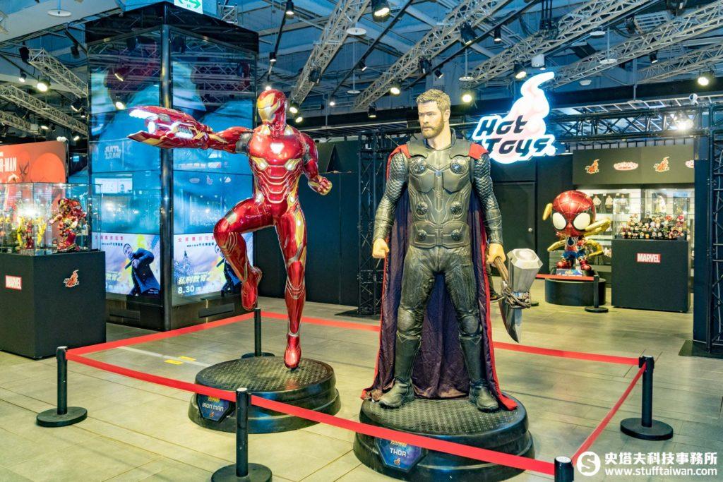 1:1鋼鐵人Mark L與雷神索爾雕塑級雕像
