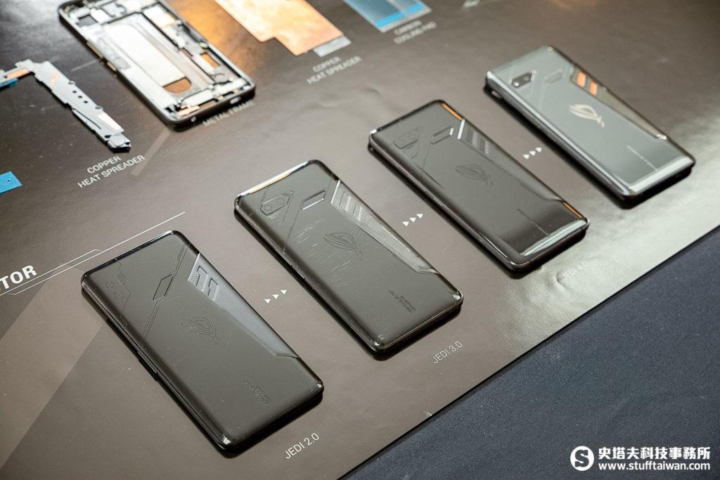 ROG Phone設計階段中的幾個造型