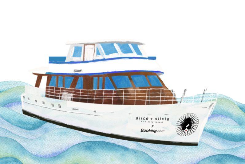 Booking.com x alice + olivia紐約時裝週遊艇限時開放預訂