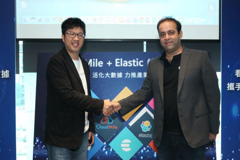 CloudMile創辦人暨執行長劉永信,與Elastic亞太區合作夥伴資深總監Pankaj Khushani