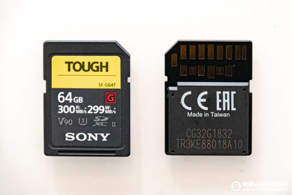 Sony SF-G系列TOUGH規格UHS-II SD記憶卡