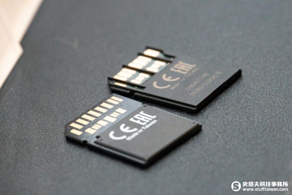 Sony SF-G系列TOUGH規格UHS-II SD記憶卡和一般SD記憶卡外觀比較