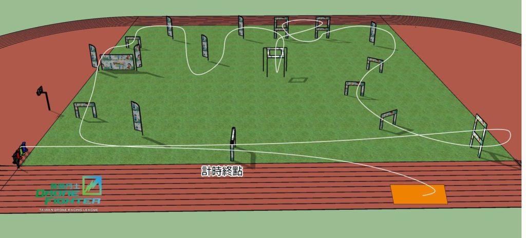 「專業飛手競速賽」賽道路線圖