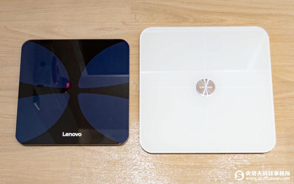 Lenovo體重計(左)、體脂計