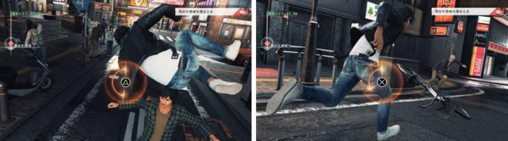 《審判之眼:死神的遺言》追逐遊戲畫面