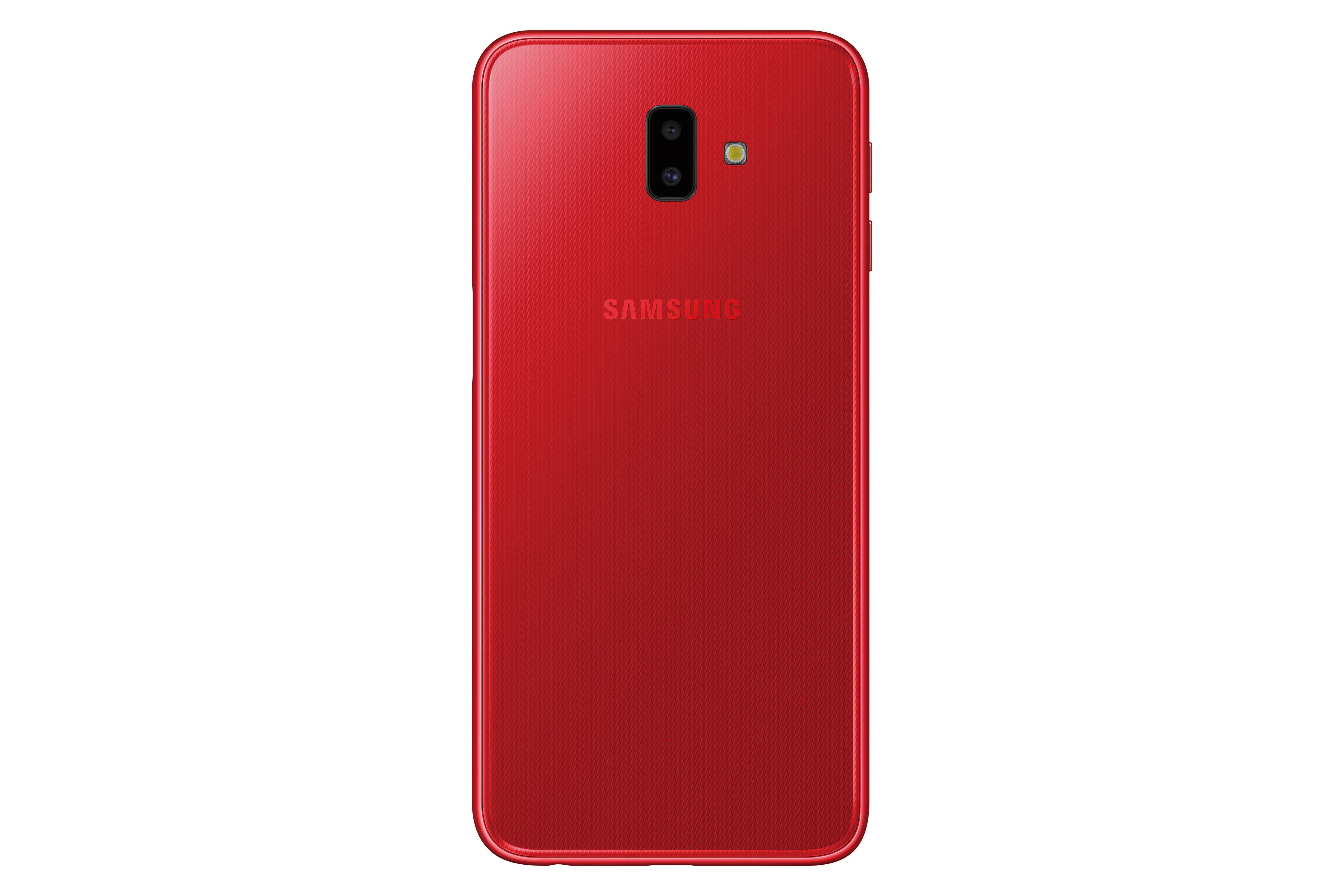 Galaxy J6+ 背面_紅色