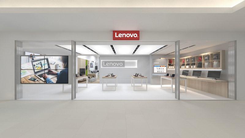 Lenovo直營體驗店渲染圖