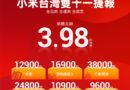 小米台灣雙十一超級購物節 銷售額創新高!!
